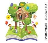 vector illustration of children | Shutterstock .eps vector #1130524415