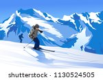 vector illustration of skier...   Shutterstock .eps vector #1130524505