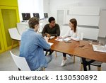 company of multiracial people... | Shutterstock . vector #1130530892