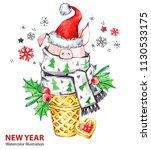 2019 happy new year... | Shutterstock . vector #1130533175