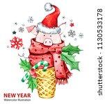 2019 happy new year... | Shutterstock . vector #1130533178