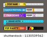 entrance bracelet at concert... | Shutterstock .eps vector #1130539562