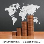 graph coins stock finance and... | Shutterstock . vector #1130559512