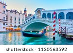 The Rialto Bridge In Venice In...