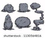 stones isolated vector element... | Shutterstock .eps vector #1130564816