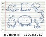 stones isolated on paper | Shutterstock .eps vector #1130565362