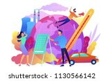 people in panic to announce... | Shutterstock .eps vector #1130566142