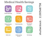 medical tax savings w health... | Shutterstock .eps vector #1130568758