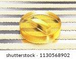 yellow glass minus circle icon... | Shutterstock . vector #1130568902