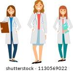 set of womens doctors... | Shutterstock .eps vector #1130569022