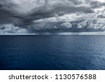 Vast Ocean With An Incoming...