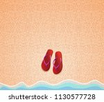 summer background. step ins on... | Shutterstock .eps vector #1130577728