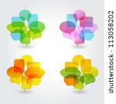 speech bubble | Shutterstock .eps vector #113058202