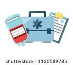 first aid kit design | Shutterstock .eps vector #1130589785