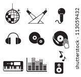 disco or club icons | Shutterstock .eps vector #113059432