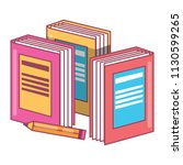 pencil and books design | Shutterstock .eps vector #1130599265