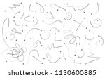 hand drawn arrows set on a... | Shutterstock .eps vector #1130600885