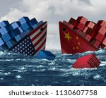 china united states trade war... | Shutterstock . vector #1130607758