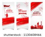 vector red color flat design ... | Shutterstock .eps vector #1130608466
