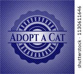 adopt a cat badge with denim... | Shutterstock .eps vector #1130611646