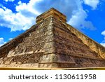 ancient mayan pyramid in... | Shutterstock . vector #1130611958