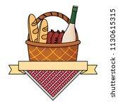 picnic emblem design  | Shutterstock .eps vector #1130615315