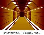 corridors secret building....   Shutterstock .eps vector #1130627558