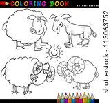 coloring book or page cartoon... | Shutterstock .eps vector #113063752