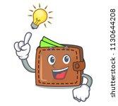have an idea wallet mascot...   Shutterstock .eps vector #1130644208