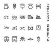 transportation icons in line...