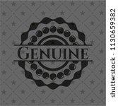 genuine black emblem. vintage. | Shutterstock .eps vector #1130659382
