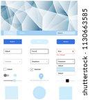 light blue vector design ui kit ...