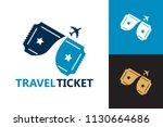 travel ticket logo template...   Shutterstock .eps vector #1130664686