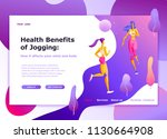 landing page template of... | Shutterstock .eps vector #1130664908