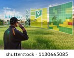 smart farming with iot ... | Shutterstock . vector #1130665085