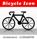 illustration of black bicycle... | Shutterstock .eps vector #1130668958
