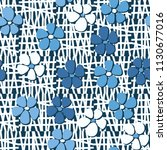 seamless pattern. flowers... | Shutterstock .eps vector #1130677016