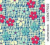 seamless pattern. flowers... | Shutterstock .eps vector #1130677022