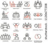 vector set of linear icons... | Shutterstock .eps vector #1130677208