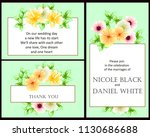 invitation with floral... | Shutterstock .eps vector #1130686688