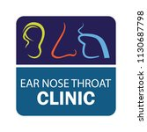 ear nose throat  ent  logo for... | Shutterstock .eps vector #1130687798
