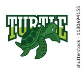 green turtle logo   vector... | Shutterstock .eps vector #1130694155