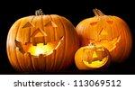 halloween pumpkin head jack... | Shutterstock . vector #113069512