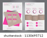 abstract flyer template.... | Shutterstock .eps vector #1130695712