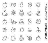 set of fruits plant icon with... | Shutterstock .eps vector #1130696012