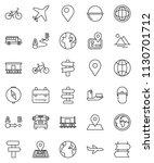 thin line vector icon set  ... | Shutterstock .eps vector #1130701712