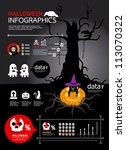 infographic helloween vector | Shutterstock .eps vector #113070322