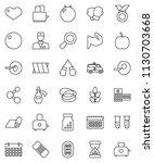 thin line vector icon set  ... | Shutterstock .eps vector #1130703668