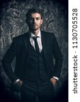 portrait of a handsome man in... | Shutterstock . vector #1130705528