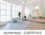 fashionable spacious apartment...   Shutterstock . vector #1130707415